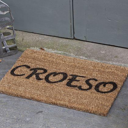 Croeso Door Mat Mat Drws Croeso Bodlon