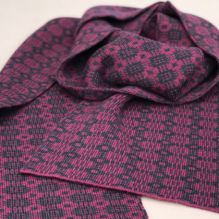Celyn Scarf ~ Damson/Coal