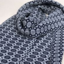 Celyn Scarf ~ Navy/Grey