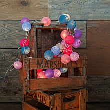 Handmade String Lighting ~ Cotton Candy