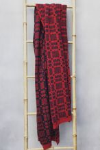 Tapestry Blanket Shawl ~ Madder/Coal