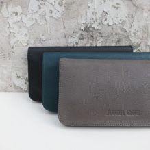Taupe Grey Leather Wallet