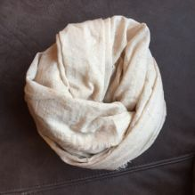 Fine Cream & Gold Scarf