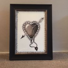 Black Heart framed