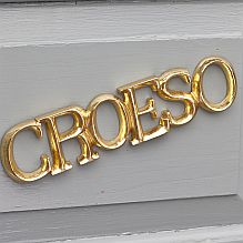 Croeso sign