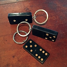 Vintage Domino Key Ring