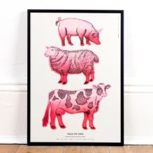 'From the farm' Riso Print