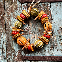 Dried Fruit Christmas Wreath
