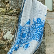 Wool & Silk Scarf ~ Cobalt Blue