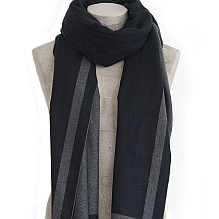 Navy & Grey Selvedge Scarf