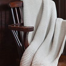 Moss Knit Throw