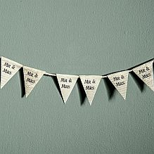 Tiny Mr & Mrs Paper Bunting