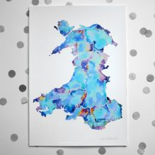 Map of Wales ~ Large