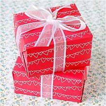 Red and White Hearts Wrapping Paper