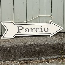 Enamel 'Parcio' - Parking Sign