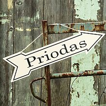 Enamel 'Priodas' - Wedding Sign