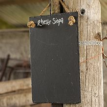 Slate Shopping List Memo Board