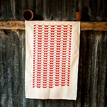 'Sosban Fach' Tea Towel ~ Red