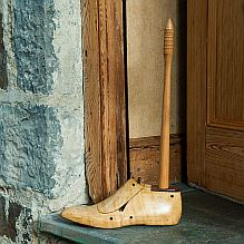 Vintage Cobbler's Wooden Shoe Last Doorstop / Toilet Roll Holder