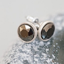 Silver Glass Studs