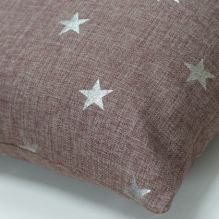 Large Silver Star Cushion ~ Grey