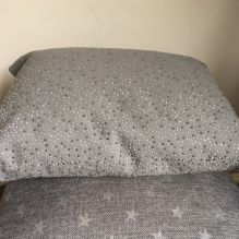 Stud Cushion ~ Grey