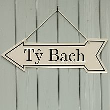 Enamel 'Ty bach' - Toilet Sign