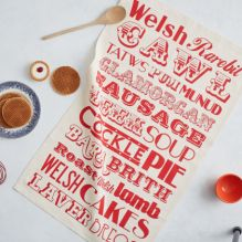 Welsh Food Tea Towel