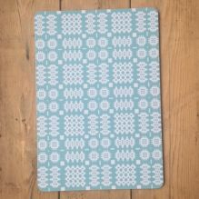 Welsh Blanket Placemats ~ Blue
