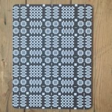 Welsh Blanket Placemats ~ Grey