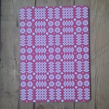 Welsh Blanket Placemats ~ Raspberry